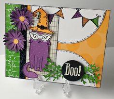 TweetScraps: Rose Blossom Blog Hop - Purr-Fect Halloween Card