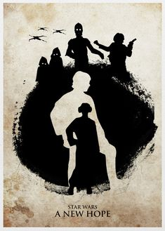 Star Wars Trilogy 11x17 Poster Set. $40.00, via Etsy.