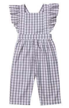 Plaid Jumpsuit - Jumpsuits and Romper Baby Girl Jumpsuit, Toddler Jumpsuit, Jumpsuit For Kids, Dress Girl, Kids Dress Wear, Little Girl Dresses, Girls Fashion Clothes, Kids Fashion, Girl Clothing