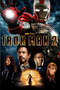Iron Man 2 [2010] directed by Jon Favreau, starring Robert Downey, Jr., Don Cheadle, Scarlett Johansson, Mickey Rourke, Samuel L. Jackson, Gwyneth Paltrow, and Sam Rockwell.