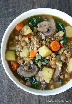 The Garden Grazer: Rustic Lentil and Potato Soup