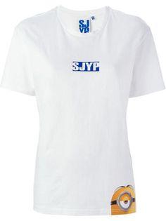 SJYP Minions print T-shirt #t-shirt #offduty #covetme #sjyp