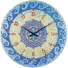 Murano Glass Blue Wave Clock