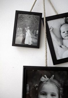 Try-this-at-Home Hanging Frames by annaleena project, emmas.blogg.se #Frames #Home_Decor #DIY #emmas_blogg_se