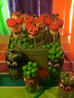 Turtle Theme Candy Buffet