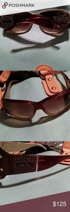 Jimmy Choo  Harley Strass Nice Brown w/ rhinestone n jimmy choose on the side, so so elegant Jimmy Choo Accessories Sunglasses