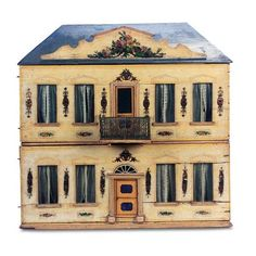 Miniatures and Dollhouses I / View Catalog Item - Theriault's Antique... ❤ liked on Polyvore featuring toys, filler, backgrounds, building and dollhouses