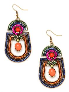 BaubleBar's Fruit Tulum Hoops - hues of pink, tangerine, royal, and green! I want to look like I'm wearing fruit in my ears without it actually looking like fruit! Love these!