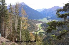 Lace up and Walk- views from the trail up to the Schlosskopf in the Ehrenberg ruins castle complex, Reutte, Austria