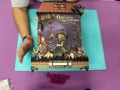 Taller Online Album Casita Halloween in Wonderland Bellaluna CRafts  Vid...