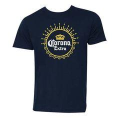 Corona Extra Basic Heather Tee Shirt Blue