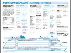 Norwegian Breakaway Decks #cruise