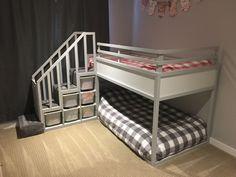 ikea kura bett umgestalten hochbett grau stauraum #bedroom #kids