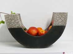 Ceramic Raku Plate  Fruit Bowl by CeramicStudio on Etsy