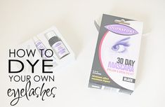 How to dye your own eyelashes: learn how to dye your own eyelashes at home using products available from any chemist or drugstore. Learn about eyelash dye