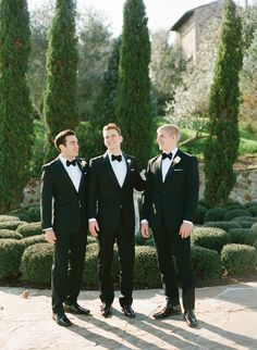 Black tuxes timeless..  Read more - http://www.stylemepretty.com/2013/08/01/florida-wedding-from-kt-merry-jill-la-fleur/