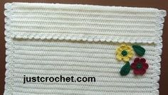 Free crochet pattern for stroller or pram cover www.justcrochet.com/justcrochet-site8_135.htm #justcrochet #freecrochetpatterns