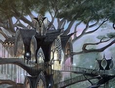 middle earth concept art lorien - Google zoeken