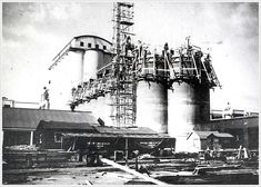 The second set of silos under construction in the Under Construction, Art Images, Big Ben, Louvre, Factories, City, Building, Garden, Travel