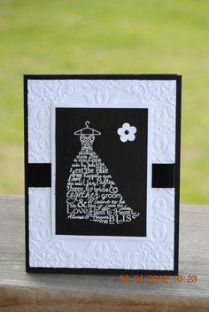 Handcrafted Wedding Bridal Shower Card/Invitation by amrichel, $3.50