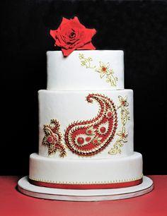 hindu cakes   Indian princess cake - edible ruby studded jewellery motifs ...