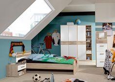 Jugendzimmer komplett Eiche Sägerau Alpinweiß 5692. Buy now at https://www.moebel-wohnbar.de/kinderzimmer-komplett-game-jugendzimmer-5-tlg-eiche-saegerau-weiss-5692
