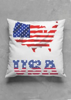 Accent Pillow - Matte Square - United States Of America in Blue/Purple/Red by VIDA Original Artist Accent Pillows, Throw Pillows, Vida Design, Oil On Canvas, Street Art, Pillow Covers, Original Art, United States, America