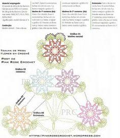 ADRIANA DO CHARTS CROCHE: TABLECLOTH FLOWER