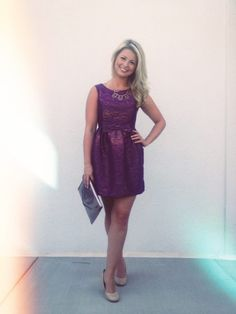 Purple Cocktail Dress- Christmas party