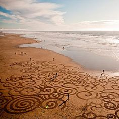 Incredible Sand Drawings by Andres Amador