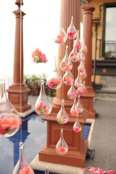 Glass Bubbles with Flowers