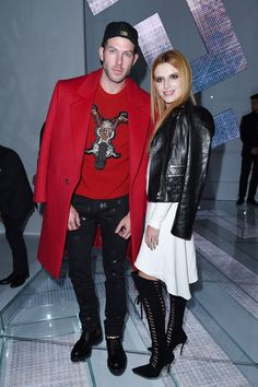 Versace Front Row /johnny wujek and bella thorne