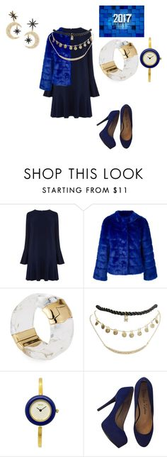 """""""Welcome to 2017"""" by rabiaheart-13 ❤ liked on Polyvore featuring Warehouse, Twin-Set, Alexis Bittar, Wet Seal, Gucci and Pour La Victoire"""