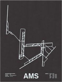 AMS: Airport Runway Screenprint, Jerome Daksiewicz, Nomo