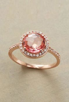 Here's my peachy-pink ring!