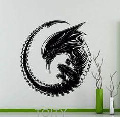 Alien Poster Wall Decal Predator 1979 Movie Xenomorph Vinyl Sticker Home Kids Boy Girl Room Interior Decor Dorm Studio Art Mural