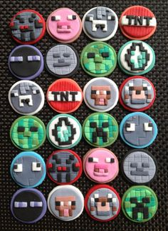 Cutest I've seen so far - 12 mine Fondant Toppers by ECTOPPERS on Etsy, $21.99