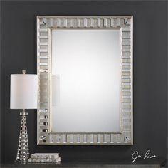 Uttermost Lanester Silver Leaf Mirror (09046)