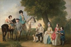 Johan Joseph Zoffany, RA (German, The Drummond Family, ca. 1769 oil on canvas 41 x 63 inches Yale Center for British Art, Paul Mellon Collection Riding Habit, Google Art Project, Web Gallery, Oil Painting Reproductions, Sports Art, Art Google, 18th Century, Equestrian, Illustration