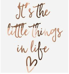 Copper print // It's the little things in life // copper // prints // copper foil print // inspirational // quote prints // poster // foil - Deko - Motivation Cute Quotes, Great Quotes, Words Quotes, Quotes To Live By, Qoutes, Cute Sayings, Quotes Images, Quotes To Frame, Inspirational Quotes About Happiness
