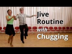 Jive Routine with Chugging   Latin Dance Figures - YouTube