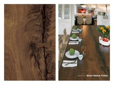 180fx® laminate - 3479 Black Walnut Timber is a gorgeous large scale wood design for kitchen islands