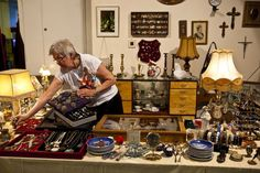 Keep small, valuable estate sale goods at the checkout area.