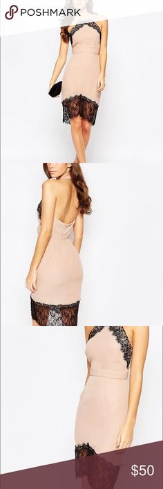 Asos Elise Ryan Dress-US 6/UK 10/EUR38 Beautiful Asos cocktail dress. Blush/nude color with black lace as shown in pictures. Never worn and new with tags! ASOS Dresses