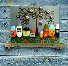 Pebble Art House art Stone Art Pebble Art Family Home Diy Crafts For Adults, Hobbies And Crafts, 3d Wall Art, Mural Art, Stone Crafts, Rock Crafts, Pebble Painting, Stone Painting, Pebble Art Family