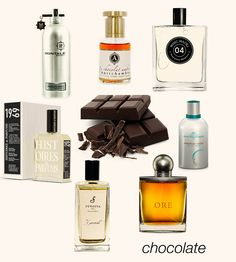 Bewitching chocolates: Chocolate Greedy, Le Chocolat, Musc Maori, Amour de Cacao, Ore, Xocoatl, and 1969. #niche #perfume #luckyscent