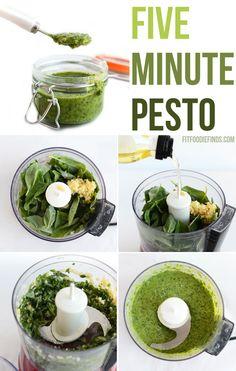 5 Minute Pesto- 5 ingredients