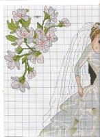 Gallery.ru / Фото #4 - boda1 - anacris133 Le Point, Cross Stitching, Cross Eyed, Stitches, Free Pattern, Wedding, Valentines Day Weddings, Grooms, Manualidades