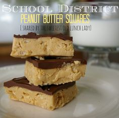 AMAZING school district peanut butter squares, recipe shared from a sweet old lunch lady. This is a hidden treasure!