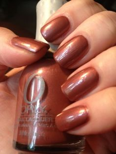 Orly - Act Your Shoe Size. Can't get enough of these pinky brown nails for fall.